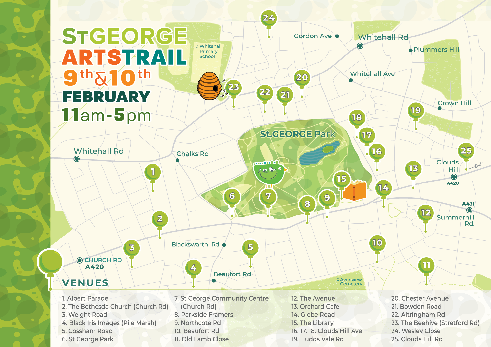 St.George ArtsTrail Map by Nadia D.Manning